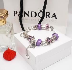 Pandora classic butterfly pendant bracelet set